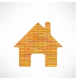 Brick Home Icon vector image