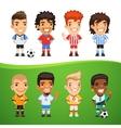 Cartoon International Soccer Players Set vector image