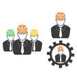 engineer head icons set vector image