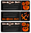flyer invitation to celebrate halloween vector image
