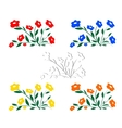 Abstract wildflowers-1 vector image