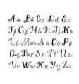 Cute Handwritten ink alphabet vector image