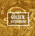 golden background in marble ink style vector image