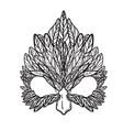 a hawk mask vector image