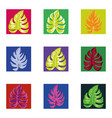abstract color tropical leaves square seamless vector image