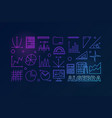 algebra colorful outline vector image vector image