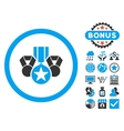 Awards Flat Icon with Bonus vector image vector image