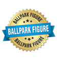 ballpark figure round isolated gold badge vector image vector image