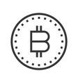 bitcoin online shopping line style icon editable vector image vector image