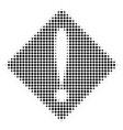 black dot problem icon vector image vector image