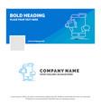 blue business logo template for bullhorn vector image
