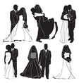 bride groom vector image vector image