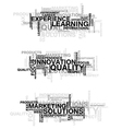 business word clouds set vector image vector image