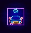 car wash neon sign vector image vector image
