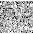cartoon doodles seychelles seamless pattern vector image