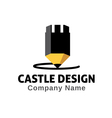 Castle Design Design vector image vector image