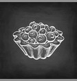 chalk sketch fruit tart vector image