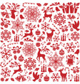 christmas seamless pattern from holiday elements vector image vector image