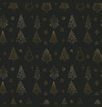christmas seamless pattern with christmas vector image vector image