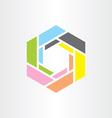 colorful hexagon business tech logo icon vector image