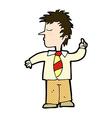 comic cartoon man making his point vector image vector image