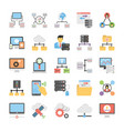 communication and networking flat icons vector image vector image