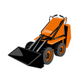 Compact skid steer vector image