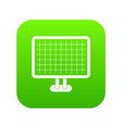 computer monitor icon digital green vector image