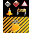 contruction signs vector image vector image