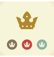 Crown icon vector image vector image