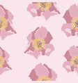 cute floral pattern with pink peony flower vector image