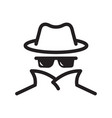 cyber fraud icon spy anonymity agent detective vector image