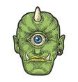 cyclop myth creature sketch engraving vector image vector image