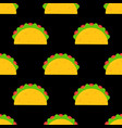 delicious mexican taco food seamless pattern vector image vector image
