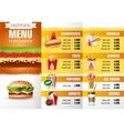 Design menu fast food