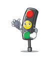 doctor traffic light character cartoon vector image