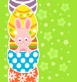 easter background card with rabbit and eggs vector image vector image