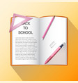 education realistic concept vector image vector image