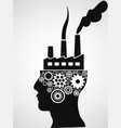 factory head vector image