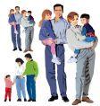 family illustration vector image vector image