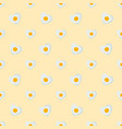 fried eggs in shape heart seamless pattern vector image