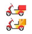 goods delivery motorcycle vector image vector image