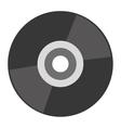 grey compact disk vector image vector image