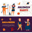 halloween time kids banners vector image