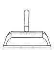 hand dustpan with wooden stick in monochrome vector image vector image