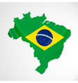 hanging brazil flag in form of map federative vector image vector image
