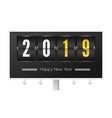 happy new year 2019 airport timetable with number vector image vector image
