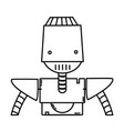 line robot face with technology arms and chest vector image