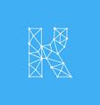logo letter k dots lines vector image