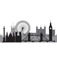 london skyline silhouette 1 vector image vector image